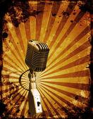 Grunge 麦克风 — 图库照片