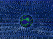 Binary world — Stockfoto