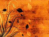 花グランジ — ストック写真