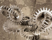 Grunge gears — Stock Photo
