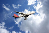 Plane in sky — Stock Photo