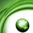 Green globe background — Stock Photo