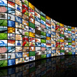 Stockfoto: Wall of screens