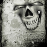 Grunge skull background — Stock Photo