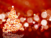 Sparkly Christmas tree — Stock Photo