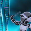 Robot with DNA strands — Stock Photo #39370609