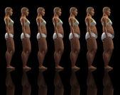 Slim to overweight female — Stock Photo