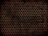 Grunge perforated metal — Stock Photo