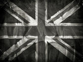 Grunge Union Jack flag background — Stock Photo