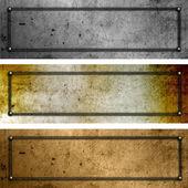 Grunge metal plates — Stock Photo
