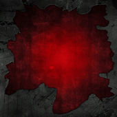 Cracked concrete and red grunge background — Stock Photo