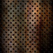 Rusty perforated metal background — Stock Photo #39840163