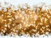 Gold Christmas snowflake background — Stock Photo