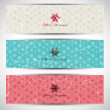 Grunge Christmas banners — Stock Vector