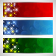 Stock Vector: Christmas starry banners