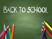 Back to school background — Vector de stock