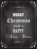 Christmas blackboard — Stock Vector