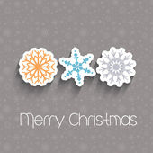 Christmas snowflakes — Stock Vector