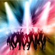 Stock Vector: Party people background