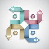 Conception de disposition des options infographie moderne — Vecteur
