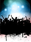 Grunge Party background — Stock Vector
