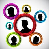 People avatars — Stock Vector