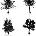秋の木々 — ストックベクタ
