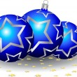 Vector de stock : Christmas baubles