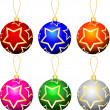 Christmas baubles — Vector de stock #40355737