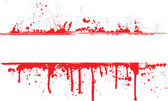 Blood splat border — Stock Vector