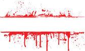 Blood splat border — Stock Vector