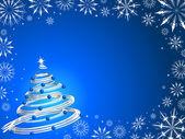 Christmas tree background — Stock Vector