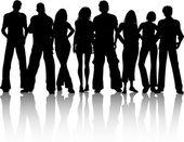 группа людей — Cтоковый вектор
