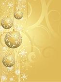 золотой рождественский фон — Cтоковый вектор