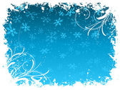 Grunge snowflake background — Stock Vector