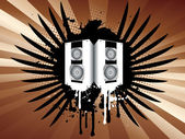 Grunge speakers — Stock Vector