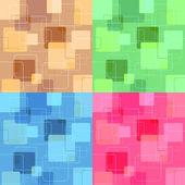 Retro squares — Stock Vector