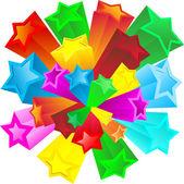 レトロな星 — ストックベクタ