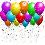 Balloons and confetti — Stock Vector #40360905