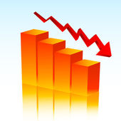 Falling profits — Stock Vector
