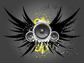 Grunge music — Stock Vector