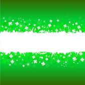 Grunge shamrock background — Stock Vector