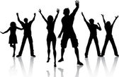 Партийные люди — Cтоковый вектор