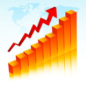 Rising profits — Stock Vector