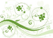 Shamrock background — Stock Vector