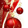 Christmas baubles — Stockvector #40535135