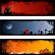 Stok Vektör: Halloween backgrounds
