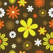 Stock Vector: Retro floral background