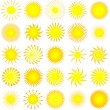 Sun icons — Stock Vector #40539347
