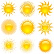 Sun icons — Stock Vector #40539355